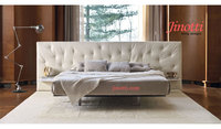 New Style fabric leather upholstered double bed for bedroom furniture