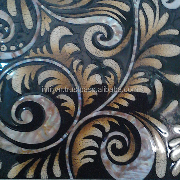 wall art design luxury furniture - mother of pearl art from Vietnam