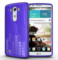 TUDIA Ultra Slim Melody Series TPU Protective Case for LG G3 (Purple)