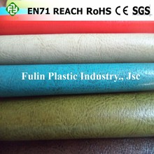 Soft hand feeling high quality pvc synthetic leather for sofa upholstery