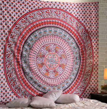 wall hanging tapestries Cloth Fabric Ombre Indian Mandala Tapestry