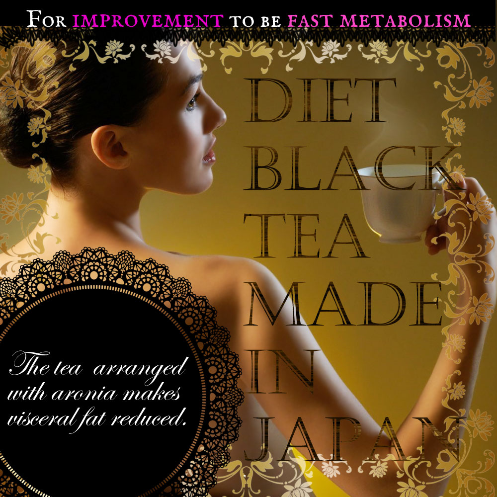 Famous and flavored beauty slimming tea with dietary fibers made in Japan