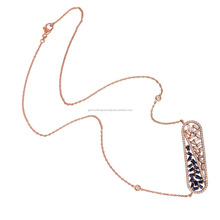 Baguette Sapphire Diamond Designer Latest Design Indian 18kt Gold Jewelry Necklace