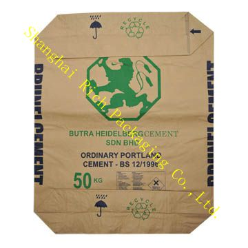 kraft empty 50kg cement bag shanghai