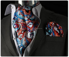 Cravat, Colorful Paisley scarf, with Pocket Square