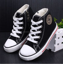 Kids high sneakers/canvas children shoes very lovely