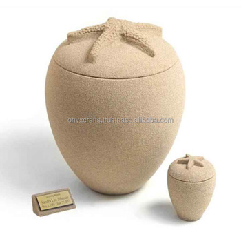 Star Fish Shape Biodegradable Sand Cremation Urns in Wholesale