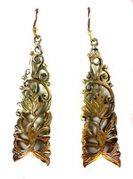 Crafty12 New Trendy Stylish Ethnic Hot Brass Casted Natural Finished Earrings