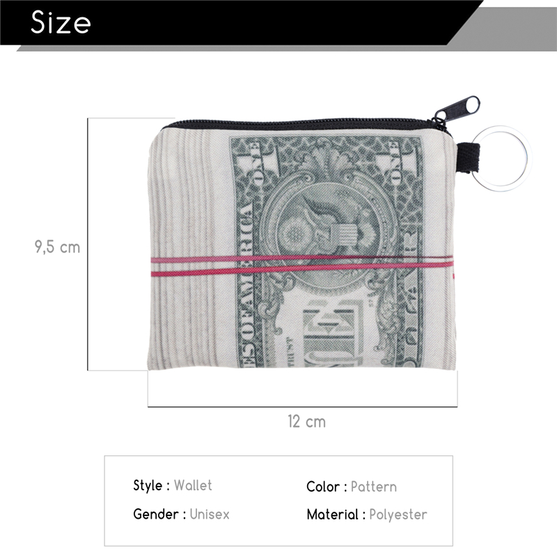 FactorytoShop (UK) Stylish, Cute Dollar Roll Design Print Square Purse/ Clutch Wallet