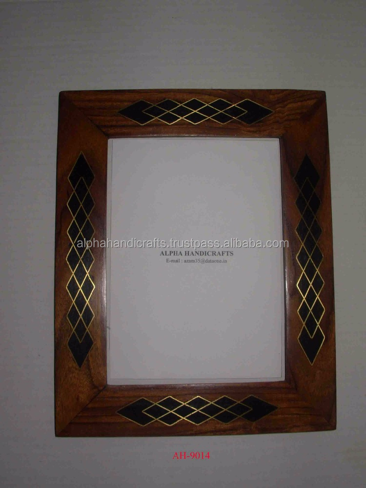 Wooden Inlay Picture Frame