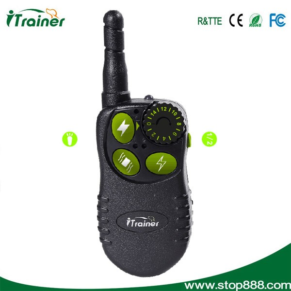 Rechargeable and waterproof 550m remote control shock and vidration beeper dog training collar iT828