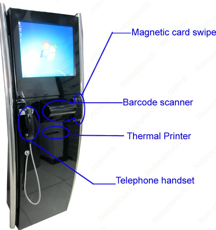 touch screen internet kiosk with handset