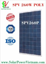 Solar Panel made in Vietnam with TUV sud certificate - 260W poly - 24V