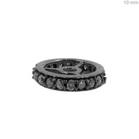 925 Sterling Silver Diamond Wheel Spacer Finding Jewelry Supplier