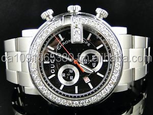 NEW MEN'S 101G CHRONOGRAPH YA101339 1.92ct APPROXIMATELY DIAMOND WATCH