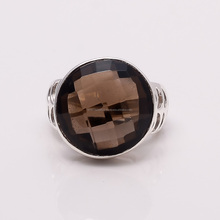 SMOKY QUARTZ 925 STERLING SILVER RING ,925 STERLING SILVER JEWELRY WHOLE SALE,JEWELRY EXPORTER