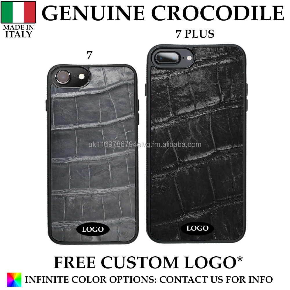 Genuine Italian Crocodile Leather Mobile Phone Case Made in Italy