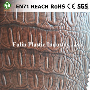 Shining PVC Leather Crocodile pattern for Bag and Furniture