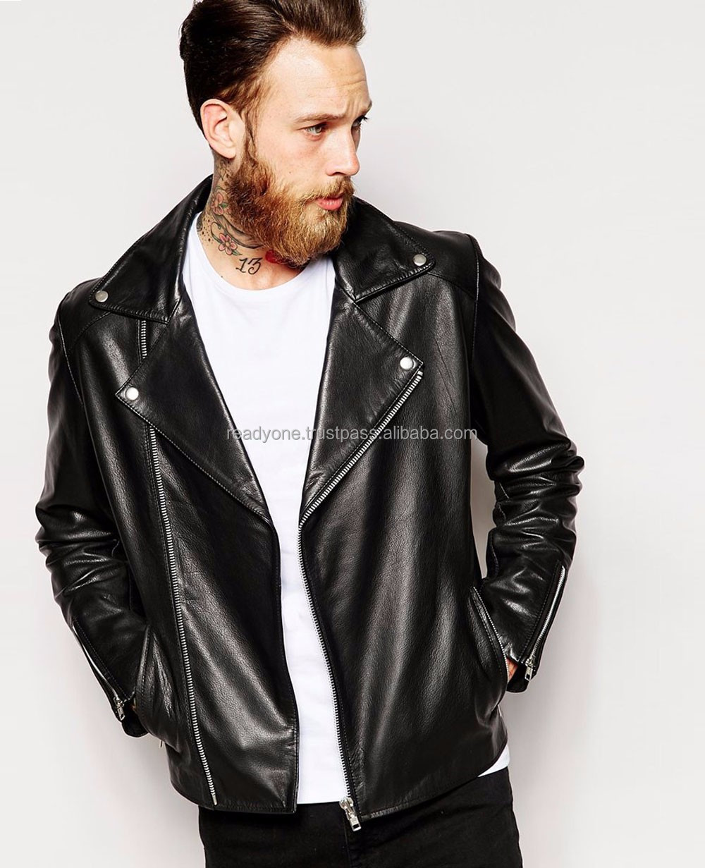 New autumn fashion mens first genuine leather jacket and business men's soft