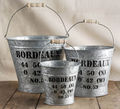 Galvanized Tin Pot Planter With Handle