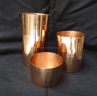 LONG TUBE VASES METAL TUBE VASES SOLID COPPER VASES