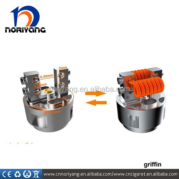 Stock offer hot seller griffin RTA velocity-style deck griffin RTA Geekvape Griffin RTA