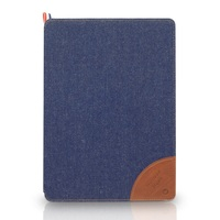 Trendy Jeans Collection Leather Folio Flip Case for iPad Air 2 , Best-selling Unique Cover for ipad air 2