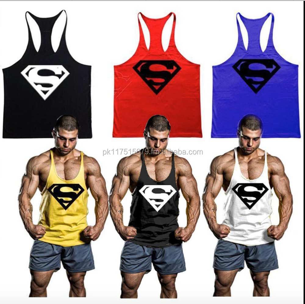 wholesale athletic wear gym stringers tank tops vest in bulk