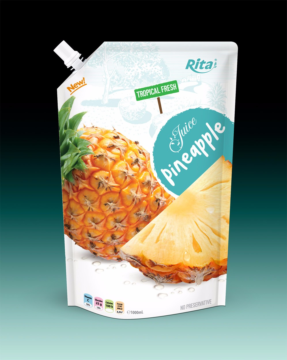 Private label pineapple juice in bag