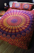 jaipuri rajasthani Indian Paisley Mandala Cotton Bedding Full Size 3P Bedroom Bed Sheet