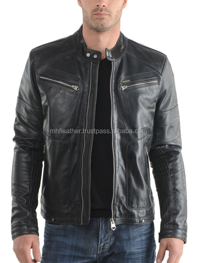 Genuine Mens Smart Fit Men's Black Leather Jacket New Style Winter Collection 366