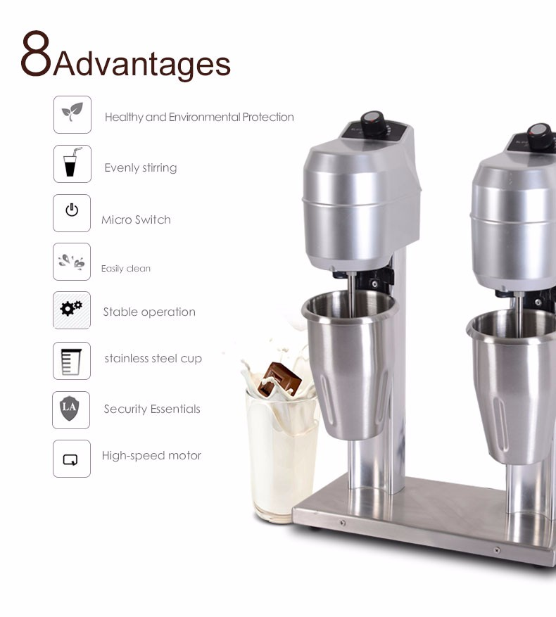 New commercial blender high speed blender low noise Top Class electrical milk shake machine good use milk shaker