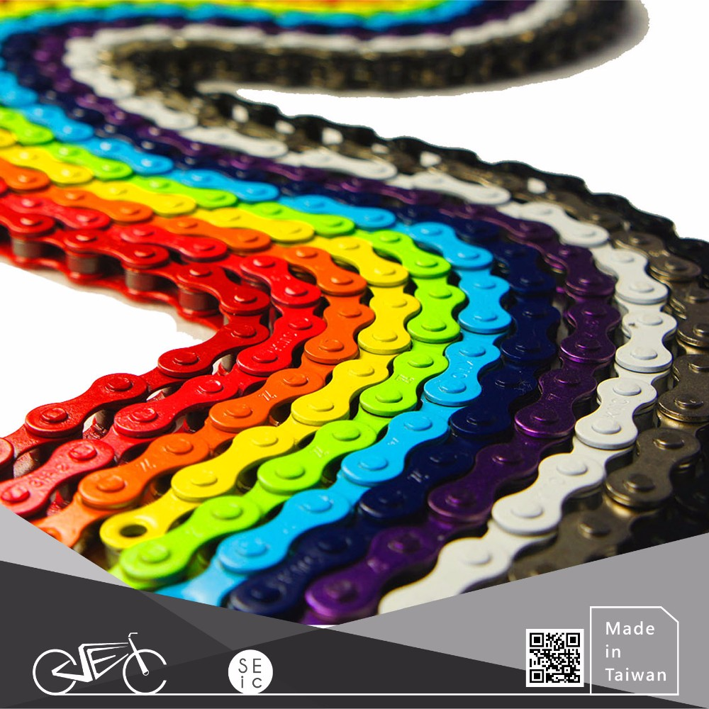 Bike parts colorful fixed gear bicycle chain