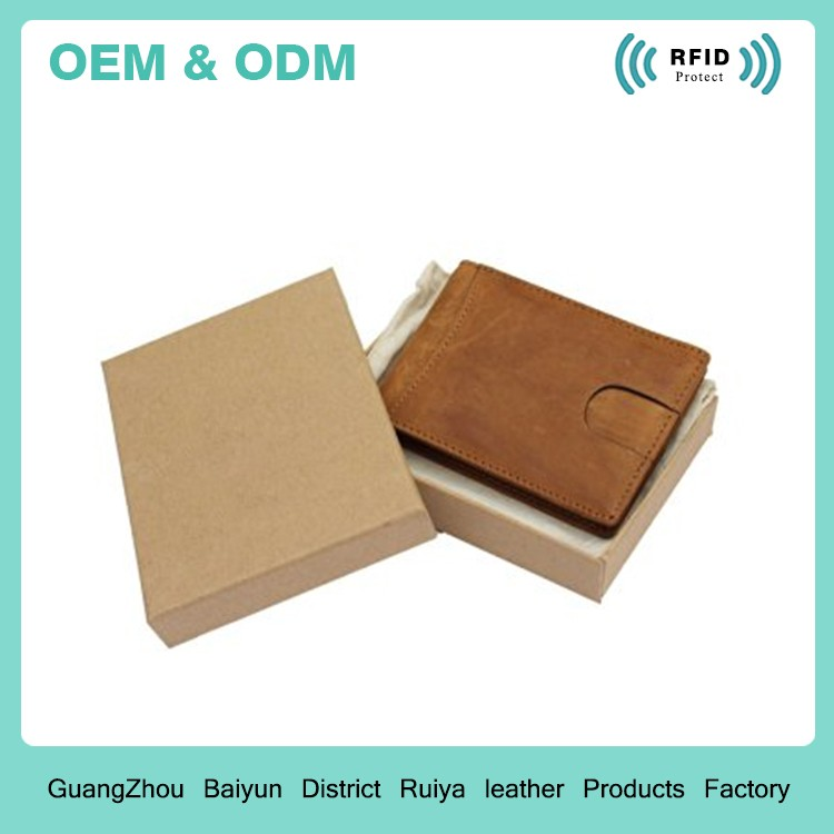 RFID Blocking Bifold Slim Full Grain Genuine Leather Thin Minimalist Front Pocket Wallets Money Clip
