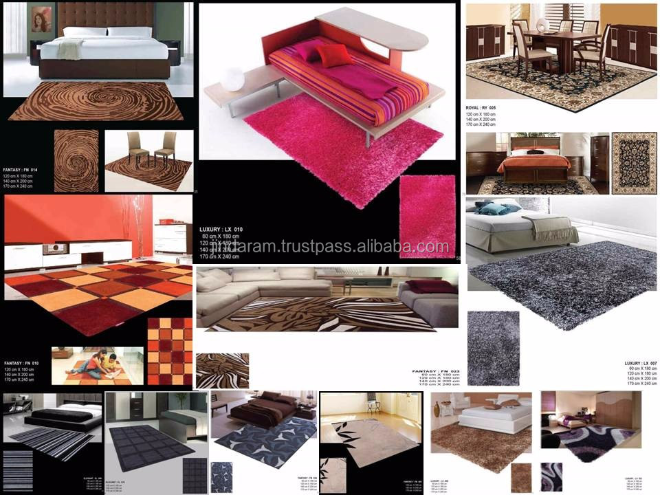Latexed Back acrylic carpets for homes