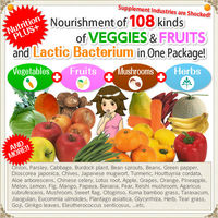 Fruits and vegetables diet pills with natural ingredients made in japan