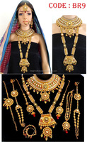 2015 Wholesale Bollywood Style Bridal Jewelry Set-Wedding Wear Dulhan Full set-Kundan Bridal Necklace set
