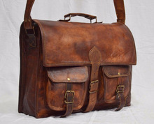 Custom High Grade Crazy Horse Leather Mens Messenger Bag Shoulder Bag for Business & Leisure