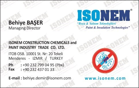 Isonem Thermal Paint for Walls Exterior Interior Heat Insulation and Waterproofing Paint, Made in TURKEY