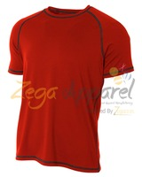 Zegaapparel OEM contrast color t shirt blank raglan t shirt wholesale fashion long tee