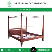 High Quality Custom Design Wooden Poster Bed/Double Bed for Sale