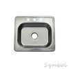 25 inch Top mount Stainless Steel Single Bowl 20 gauge Stainless Steel Kitchen Sink