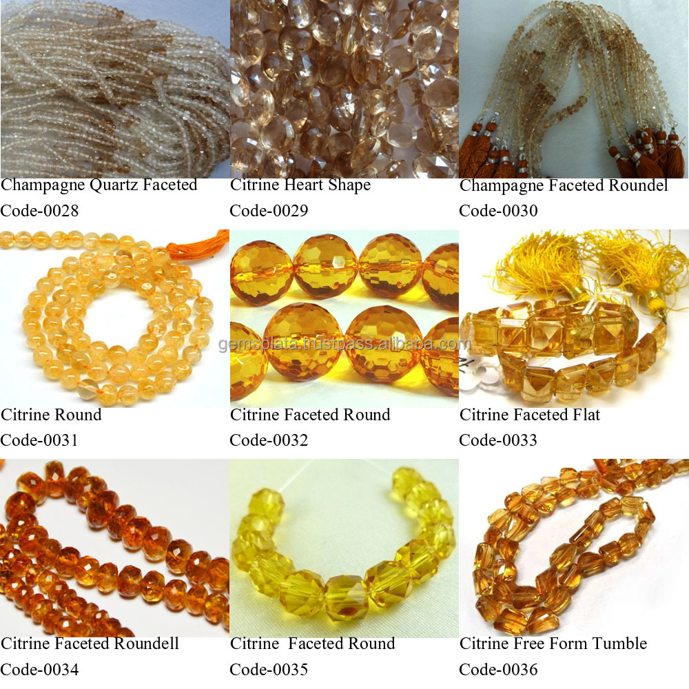 Citrine Gemstone Beads 14 Inch 16 Inch Threaded Strands