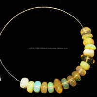 Ethiopian Opal Smooth Polished Rondelle Loose Beads