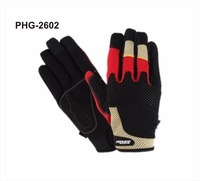Synthetic Leather Work Gloves- Touch Screen Functional- Mechanic/Machine/Tactical/Utility - Tear Vibration