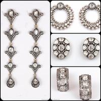 925 Silver Sterling Diamond Polki Manufacturer Diamond Jewelry