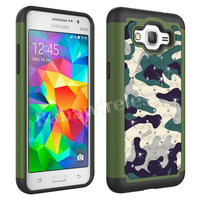 Hybrid Armor Bling Series Diamond Camo Case For Samsung Galaxy Grand Prime