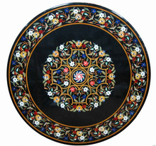 Italian Micro Mosaic Inlay Coffee Table Top Pietra Dura Inlaid Marble Table Top