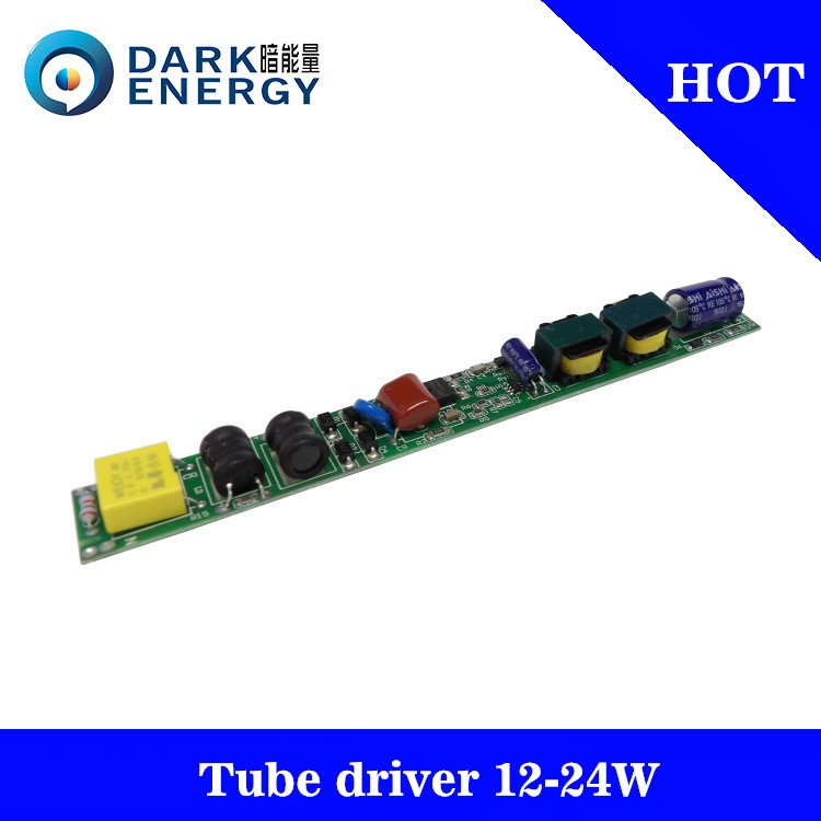T8 tube 9 EMC 12-24w driver 280- 300MA PF 0.9 driver for tube light
