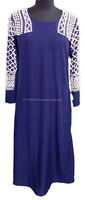 Hand sewn beaded Abaya in crepe or georgette or eco friendly bamboo woven fabric in latest design